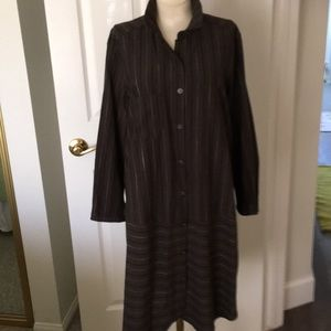 All inFavor size L striped army green shirt dress